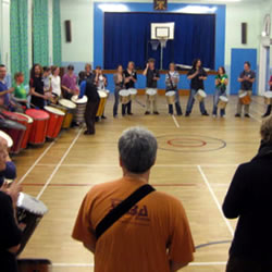 TESS samba drumming workshop
